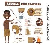 africa infographics. indigenous ... | Shutterstock .eps vector #544555897