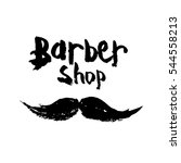 logo for the barber shop with... | Shutterstock .eps vector #544558213