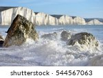 Sea Spray Against Coastal Rock...