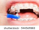 using an interdental brush for...   Shutterstock . vector #544569883