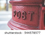 iconic british red mail postbox ... | Shutterstock . vector #544578577