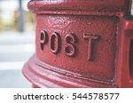 Iconic British Red Mail Postbo...