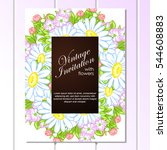 vintage delicate invitation... | Shutterstock . vector #544608883