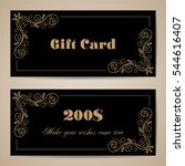 gift card template with... | Shutterstock .eps vector #544616407