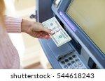 repayment on credit. woman hand ... | Shutterstock . vector #544618243