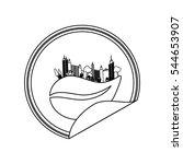 eco green city icon vector... | Shutterstock .eps vector #544653907