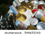 Wine Bottle In An Ice Bucket....