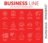 thin line icons set of business ... | Shutterstock .eps vector #544658437