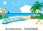 summer beach 1 | Shutterstock .eps vector #54465868