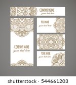 design templates business cards ... | Shutterstock .eps vector #544661203