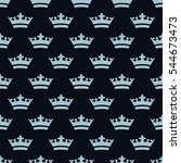seamless pattern with dense... | Shutterstock .eps vector #544673473