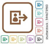 user logout simple icons in... | Shutterstock .eps vector #544673983