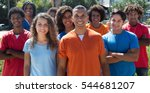 large group of standing young... | Shutterstock . vector #544681207