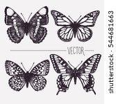 vector hand drawn ink... | Shutterstock .eps vector #544681663