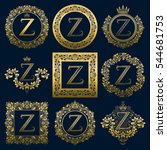 vintage monograms set of z... | Shutterstock .eps vector #544681753