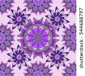 mandalas background. vector... | Shutterstock .eps vector #544688797