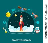 space technology concept... | Shutterstock .eps vector #544688863