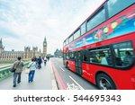 london. double decker bus... | Shutterstock . vector #544695343