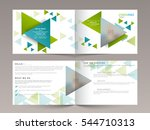 creative business brochure set  ... | Shutterstock .eps vector #544710313