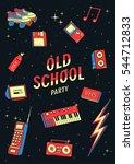 old school elements set. retro... | Shutterstock .eps vector #544712833
