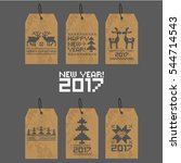 a set of christmas cards. cards ...   Shutterstock .eps vector #544714543
