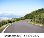 Beautiful Autumn Mountain Road