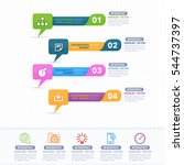 colorful infographics shapes... | Shutterstock .eps vector #544737397