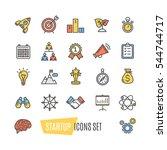 start up motivation... | Shutterstock . vector #544744717