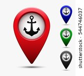colored map pointer with symbol ... | Shutterstock .eps vector #544746037