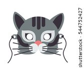 cat animal carnival mask vector ... | Shutterstock .eps vector #544752427