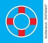 lifebuoy  icon  vector...   Shutterstock .eps vector #544760647