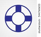 lifebuoy  icon  vector...   Shutterstock .eps vector #544760653