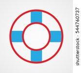 lifebuoy  icon  vector...   Shutterstock .eps vector #544760737