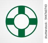 lifebuoy  icon  vector...   Shutterstock .eps vector #544760743