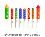 kinds of amazing fireworks.... | Shutterstock .eps vector #544764517