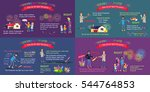 fireworks safety. vector... | Shutterstock .eps vector #544764853