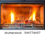 Flames In The Fireplace ...