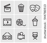 cinema line icons | Shutterstock .eps vector #544780513