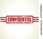 confidential stamp | Shutterstock .eps vector #544783867