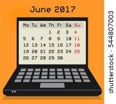 laptop or notebook computer ... | Shutterstock .eps vector #544807003