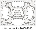 collection of cute hand drawn... | Shutterstock .eps vector #544809283