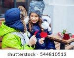 little happy friends walking in ...   Shutterstock . vector #544810513