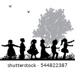 vector image of children... | Shutterstock .eps vector #544822387