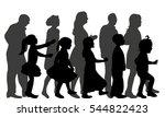 vector image silhouette of... | Shutterstock .eps vector #544822423