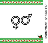 web line icon. gender symbol ... | Shutterstock .eps vector #544831147