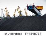 work in port coal handling...   Shutterstock . vector #544848787