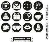 happy valentines day round icon ... | Shutterstock .eps vector #544869313