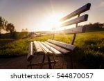 park bench at sunset | Shutterstock . vector #544870057