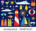 cruise and sea travel symbols... | Shutterstock .eps vector #544874167