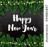 happy new year. greeting card... | Shutterstock .eps vector #544881847